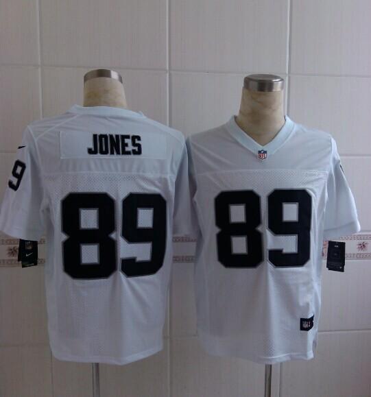 Oakland Raiders 89 Jones White 2014 Nike NFL Elite Jerseys