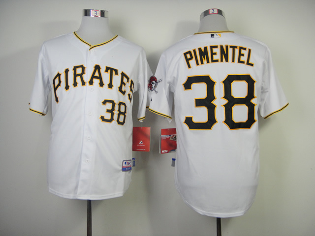 MLB Pittsburgh Pirates 38 Pimentel White 2014 Jerseys