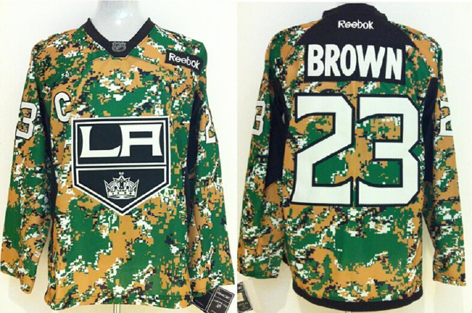 Los Angeles Kings 23 Brown Camo jerseys