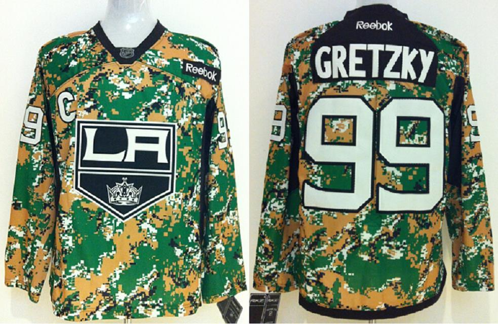 Los Angeles Kings #99 Wayne Gretzky Camo jerseys