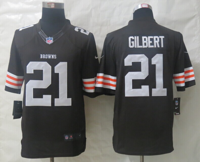 Cleveland Browns 21 Gilbert Brown New Nike Limited Jerseys