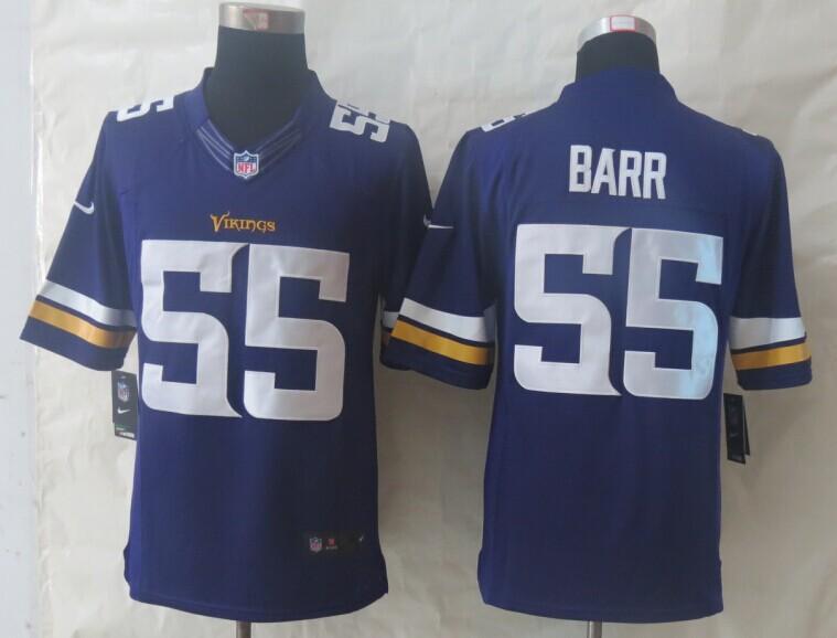 Minnesota Vikings 55 Barr Purple New Nike Limited Jerseys