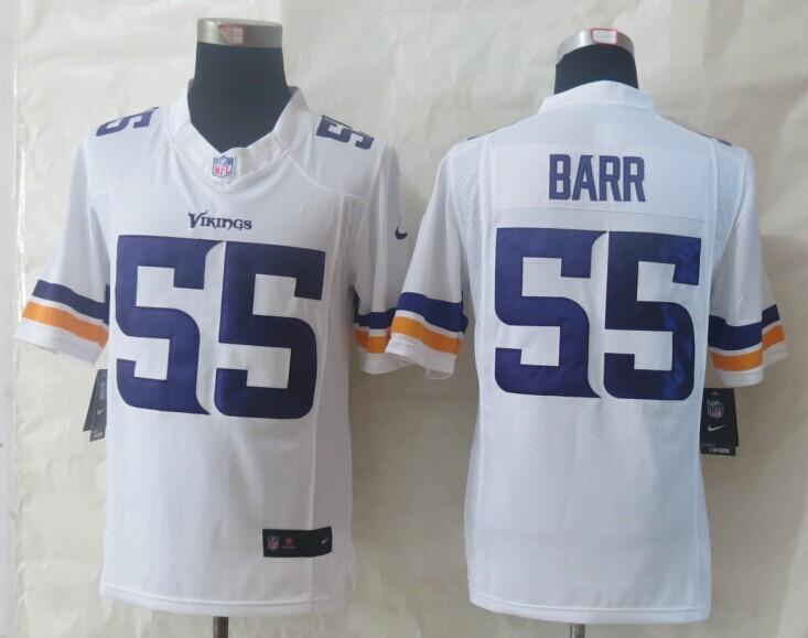 Minnesota Vikings 55 Barr White New Nike Limited Jerseys