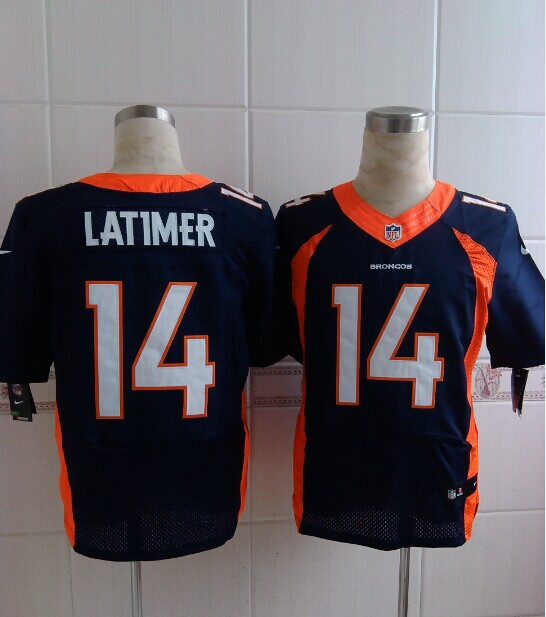 Denver Broncos 14 Latimer Blue 2014 Nike Elite Jerseys