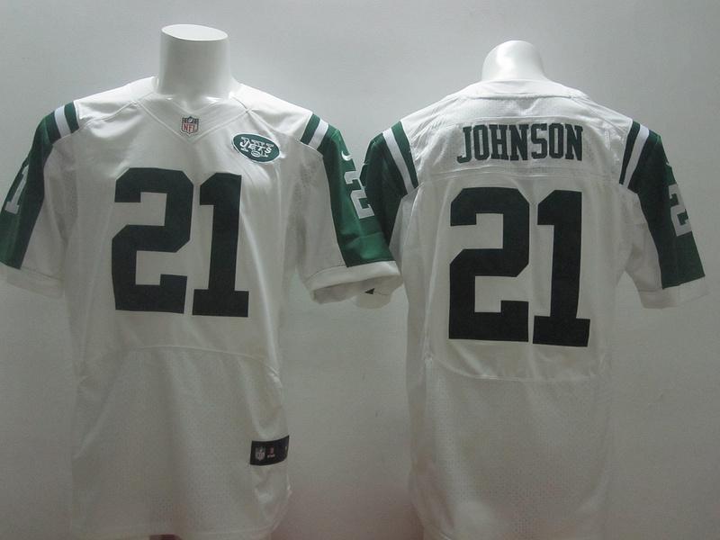 New York Jets 21 Johnson White 2014 Nike Elite Jerseys