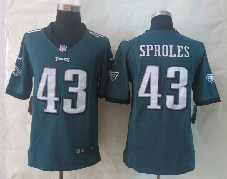Philadelphia Eagles 43 Sproles Green New Nike Limited Jerseys