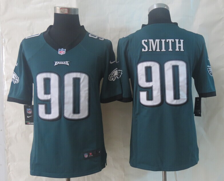 Philadelphia Eagles 90 Smith Green New Nike Limited Jerseys