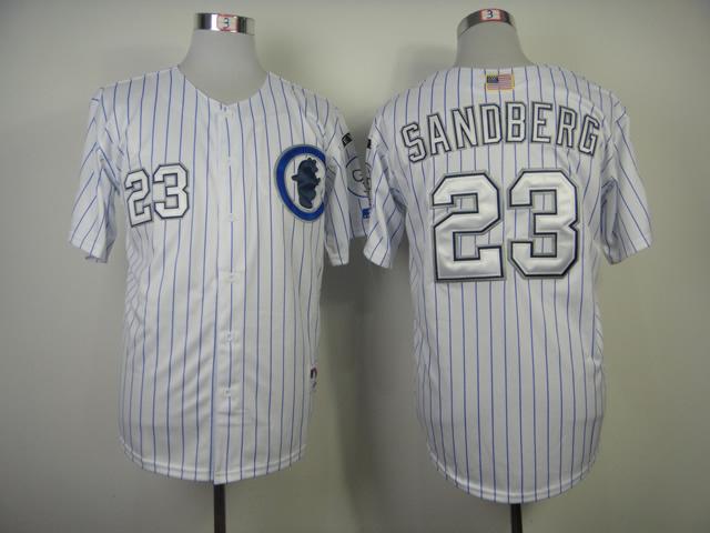 MLB Chicago Cubs 23 ryne sandberg White 2014 Jerseys