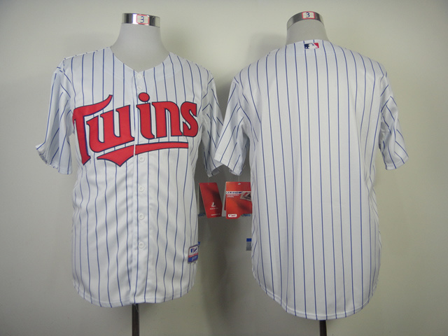 MLB Minnesota Twins Blank White 2014 Jerseys