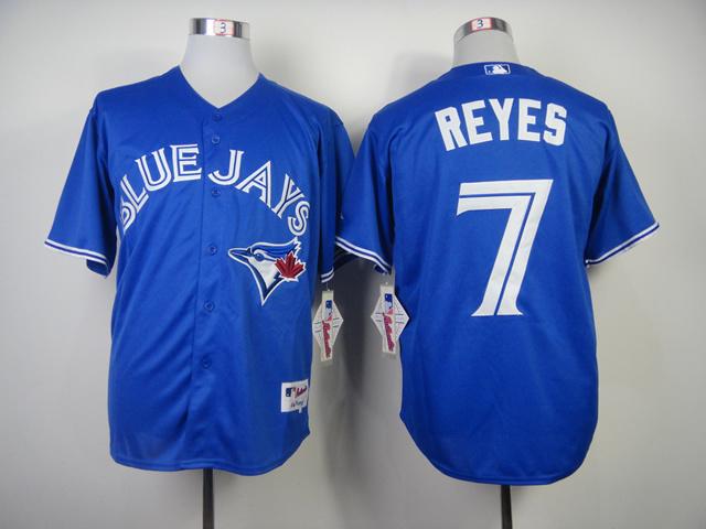 MLB Toronto Blue Jays 7 Jose Reyes Blue 2014 Jerseys