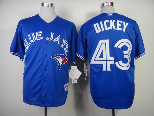 MLB Toronto Blue Jays 43 Dickey Blue 2014 Jerseys
