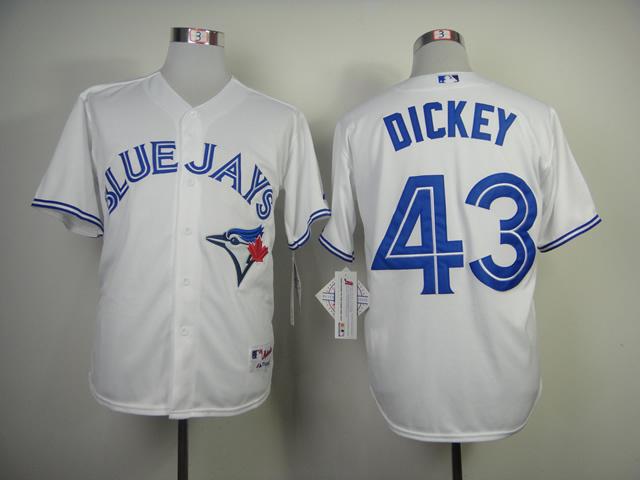 MLB Toronto Blue Jays 43 Dickey White 2014 Jerseys