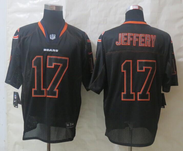 Chicago Bears 17 Jeffery Lights Out Black New Nike Elite Jerseys