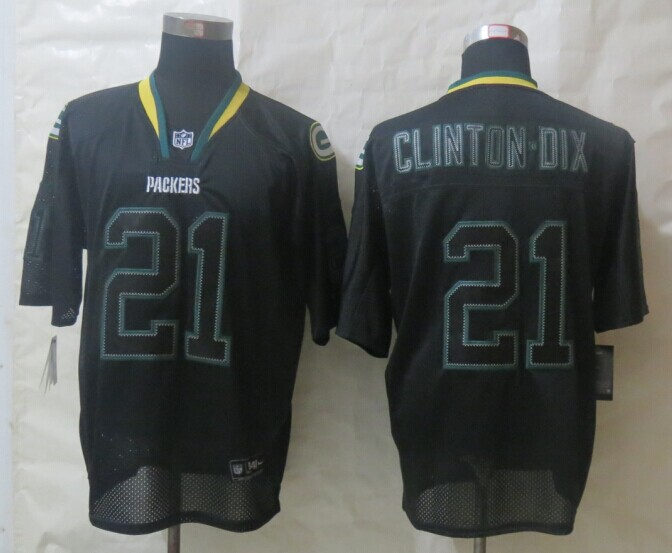 Green Bay Packers 21 Clinton-Dix Lights Out Black New Nike Elite Jerseys