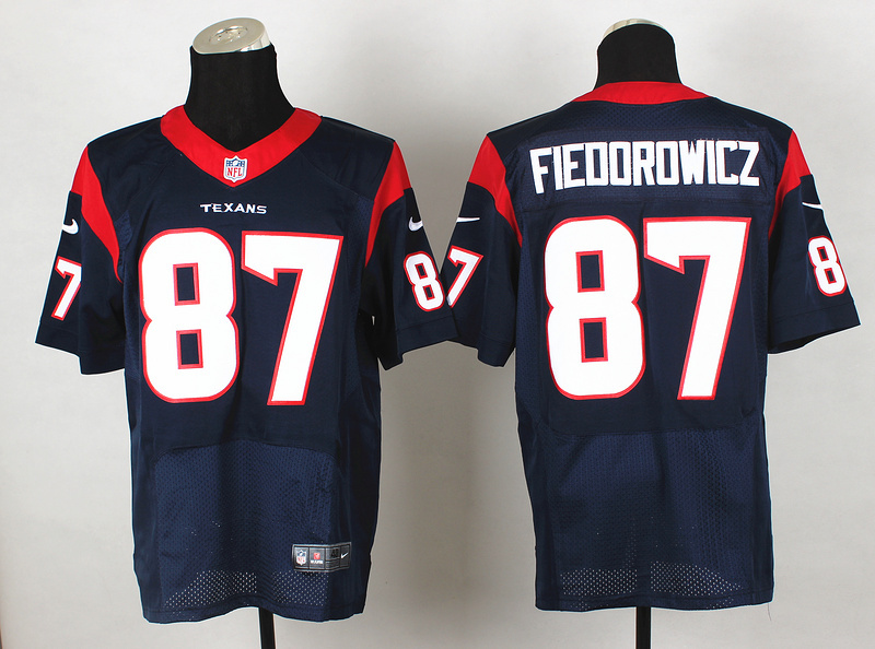 Houston Texans 87 Fieoorowicz Blue 2014 Nike Elite Jerseys