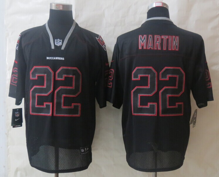 Tampa Bay Buccaneers 22 Martin Lights Out Black New Nike Elite Jerseys