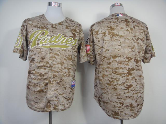 MLB San Diego Padres Blank Camo 2014 Jerseys