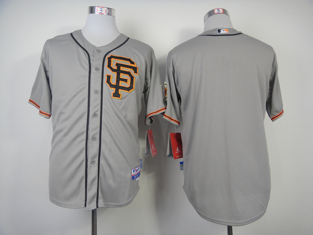 MLB San Francisco Giants Blank Grey 2014 Jerseys