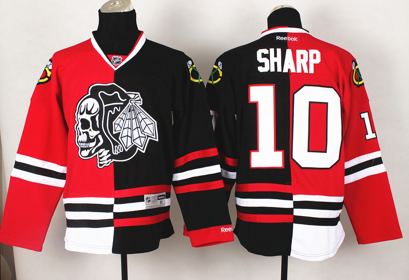 NHL Chicago Blackhawks 10 Sharp Red Black Split 2014 Jersey
