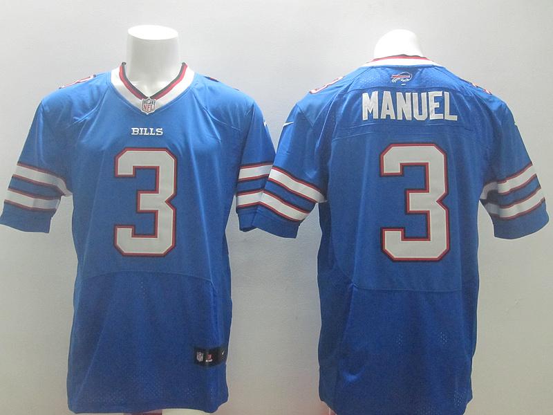 Buffalo Bills 3 Manuel Blue 2014 Nike Elite Jerseys