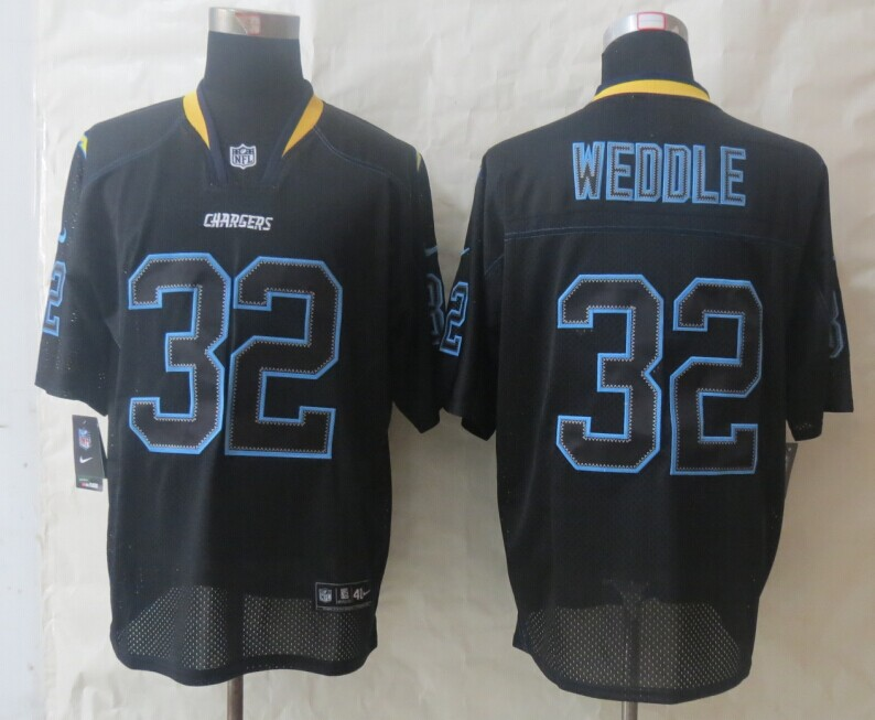 San Diego Charger 32 Weddle Lights Out Black New Nike Elite Jerseys