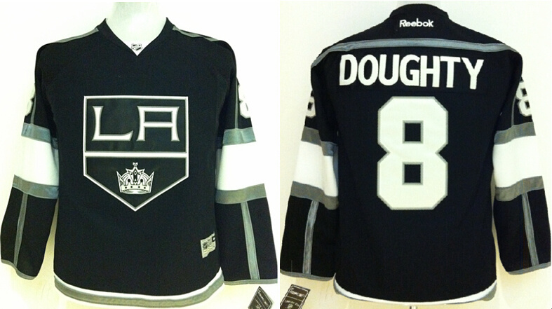 Youth NHL Los Angeles Kings 8 Drew doughty Black Jerseys