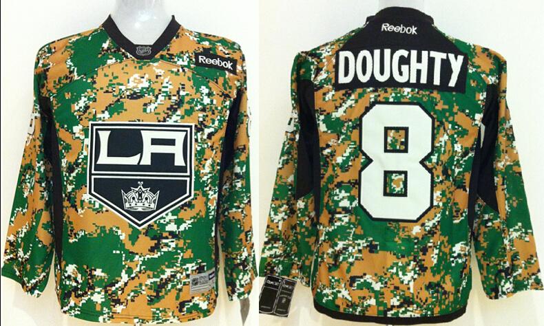 Youth NHL Los Angeles Kings 8 Drew doughty Camo Jerseys