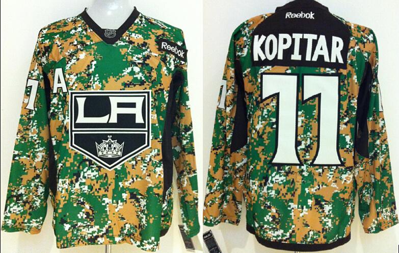 Youth NHL Los Angeles Kings 11 Kopitar Camo Jerseys