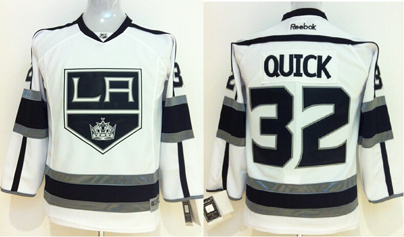 Youth NHL Los Angeles Kings 32 Jonathan Quick White Jerseys