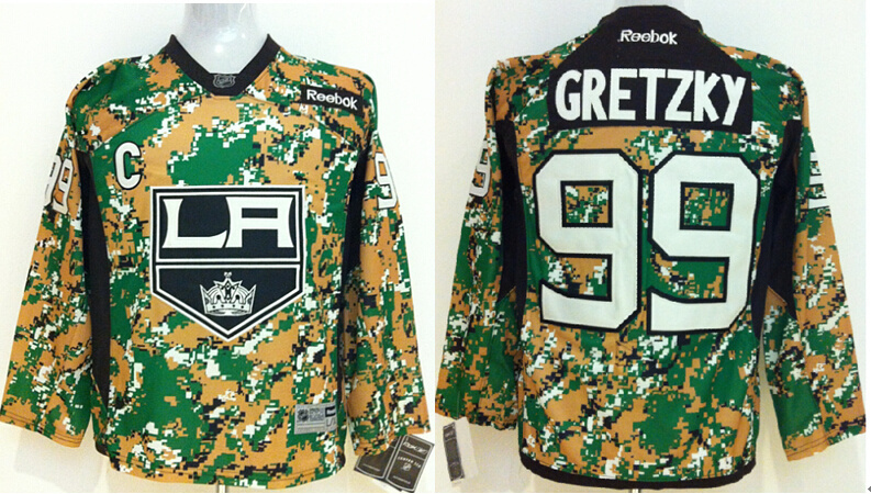 Youth NHL Los Angeles Kings 99 Gretzky Camo Jerseys