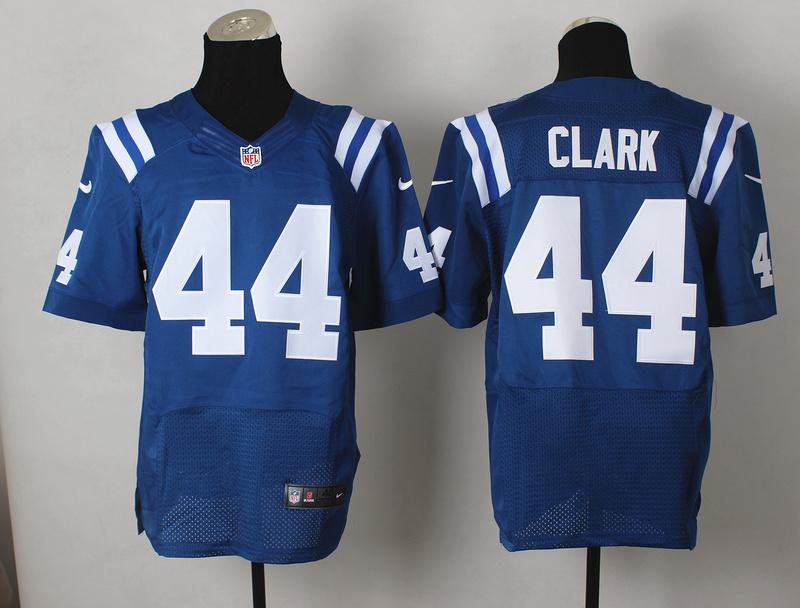 Indianapolis Colts 44 Dallas Clark Blue 2014 Nike Elite Jerseys