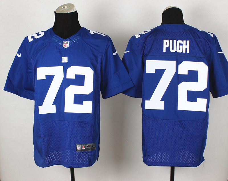 New York Giants 72 Pugh Blue 2014 Nike Elite Jerseys