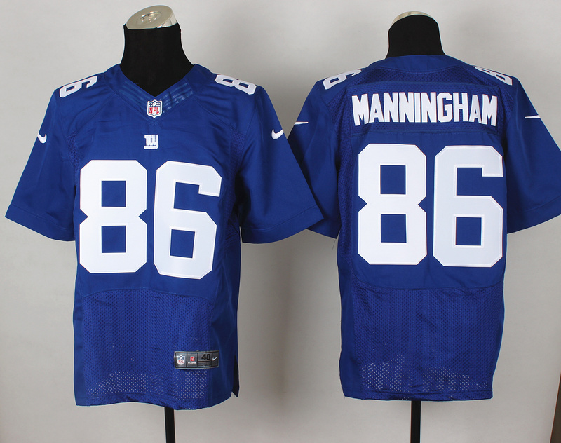 New York Giants 86 Mario Manningham Blue 2014 Nike Elite Jerseys