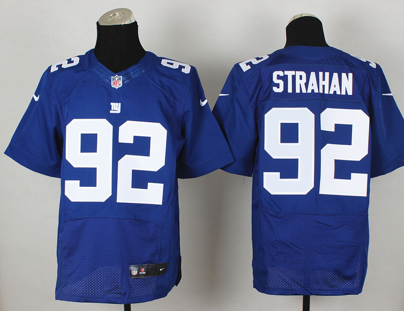 New York Giants 92 Michael Strahan Blue 2014 Nike Elite Jerseys