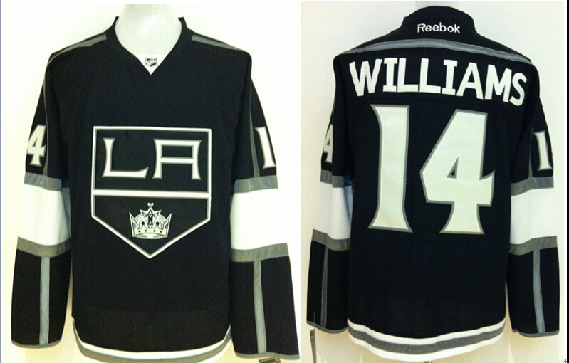 NHL Los Angeles Kings 14 Justin Williams Black 2014 Jerseys