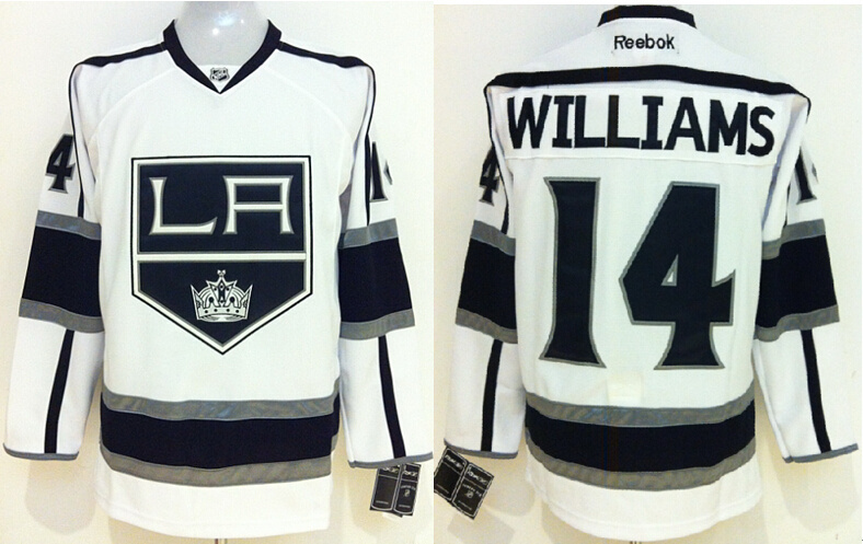 NHL Los Angeles Kings 14 Justin Williams White 2014 Jerseys