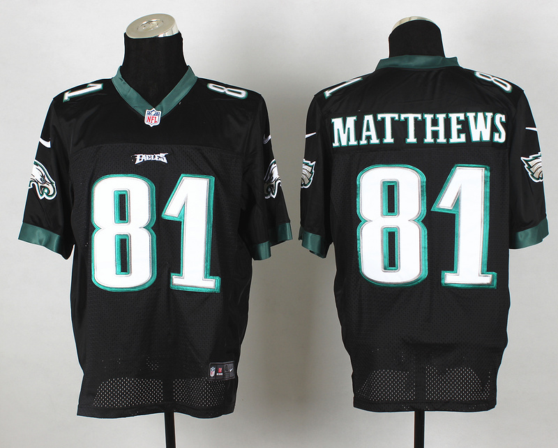 Philadelphia Eagles 81 Matthews Black 2014 Nike Elite Jerseys