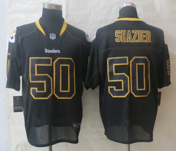 Pittsburgh Steelers 50 Shazier Lights Out Black New Nike Elite Jerseys
