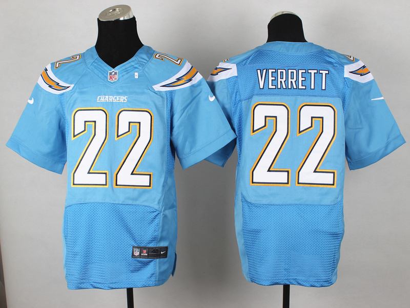 Los Angeles Chargers 22 Jason Verrett Light Blue 2014 Nike Elite Jerseys