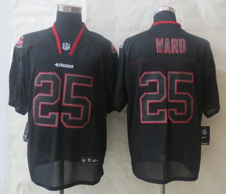 San Francisco 49ers 25 Ward Lights Out Black New Nike Elite Jerseys