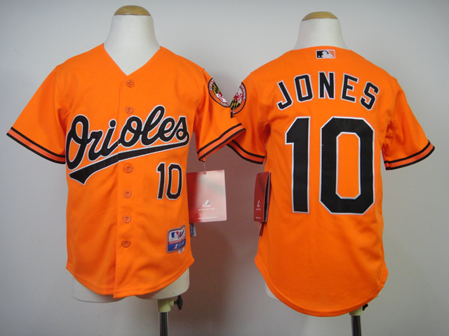 Youth MLB Baltimore Orioles 10 Jones Orange 2014 Jerseys