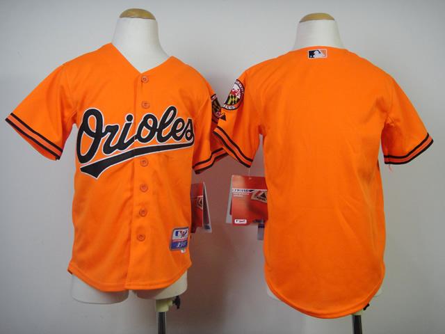 Youth MLB Baltimore Orioles Blank Orange 2014 Jerseys