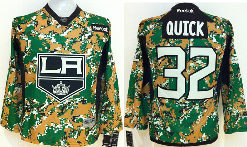 Youth NHL Los Angeles Kings 32 Jonathan Quick Camo Jerseys