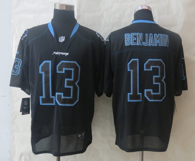 Carolina Panthers 13 Benjamin Lights Out Black New Nike Elite Jerseys