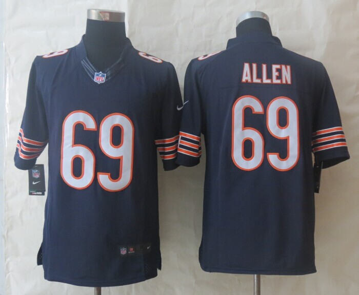 Chicago Bears 69 Allen Blue New Nike Limited Jersey