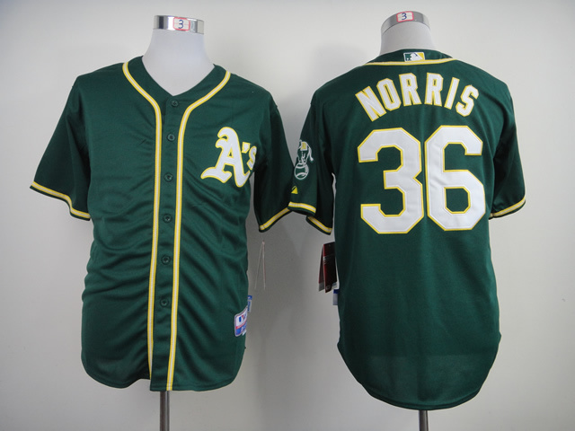 MLB Oakland Athletics 36 Derek Norris Green 2014 Jerseys