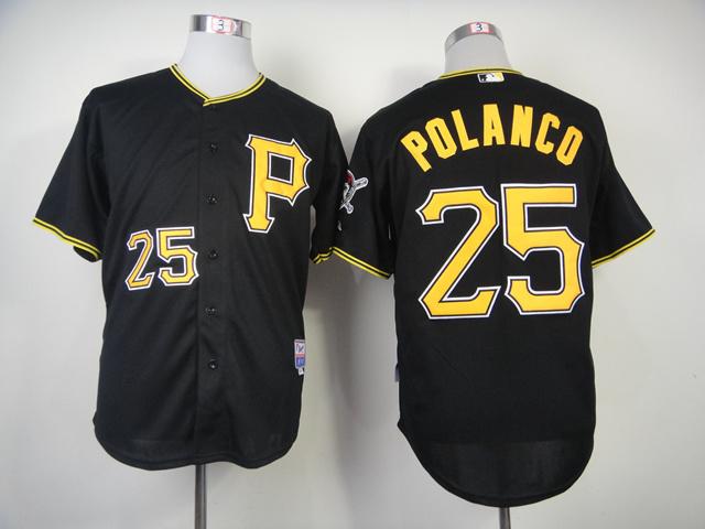 MLB Pittsburgh Pirates 25 Gregory Polanco Black 2014 Jerseys