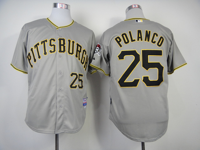 MLB Pittsburgh Pirates 25 Gregory Polanco Grey 2014 Jerseys