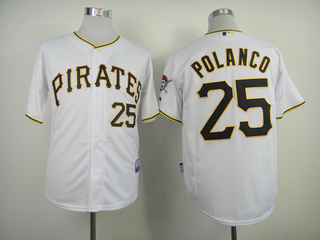 MLB Pittsburgh Pirates 25 Gregory Polanco White 2014 Jerseys