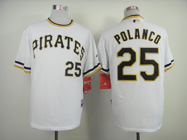 MLB Pittsburgh Pirates 25 Gregory Polanco White pullover 2014 Jerseys